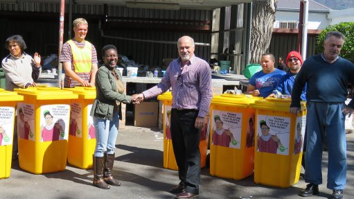 Industry body donates plastic  recycling bins to charity organisations