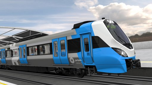 First Metrorail test train arrives in S Africa