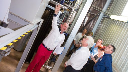 Steam-producing  boiler room reduces electricity consumption