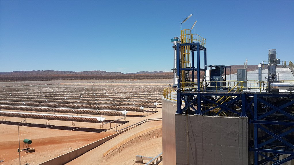 FULL LOAD ACWA Power Solafrica's Bokpoort concentrated solar power plant has a thermal storage capacity of 1 300 MWh