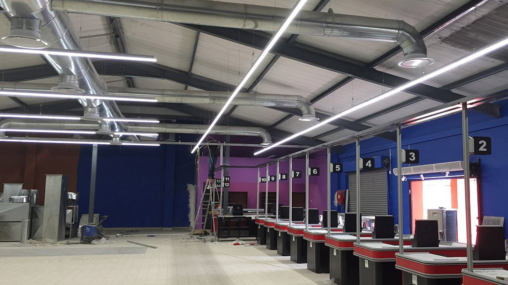 ELECTRICITY CONSUMPTION REDUCED Energy efficient lighting management system installed for Boxer Superstore in Cape Town at the end of 2015