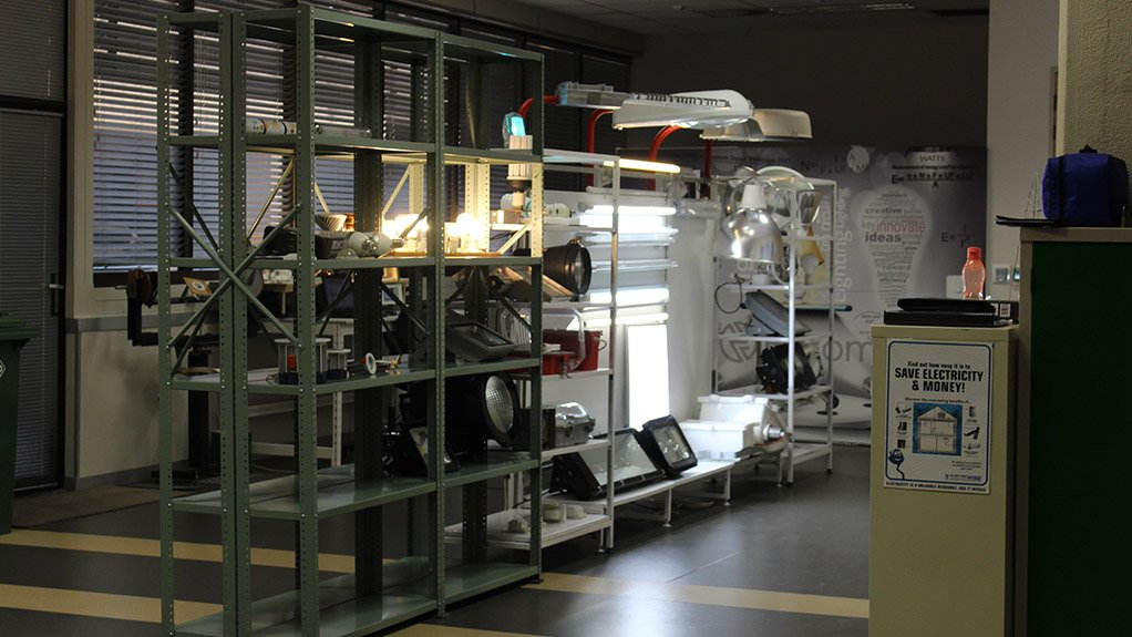 SWAN EDISON ILLUMINATION LAB  Eskom opened the laboratory at its Research and Innovation Centre in Rosherville to test and verify the performance of lamps and luminaires
