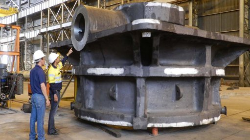 Tenova Takraf supplies largest spare  for Sishen's primary gyratory crusher
