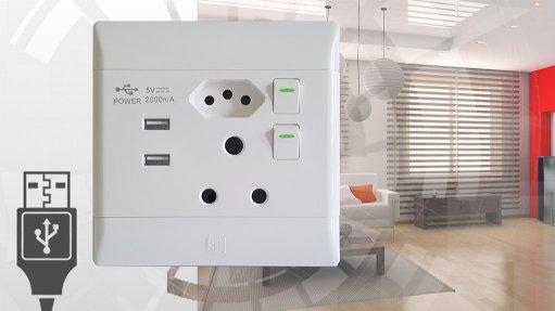 New plug socket integrates USB ports
