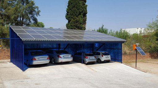 Carport can provide shade and electricity