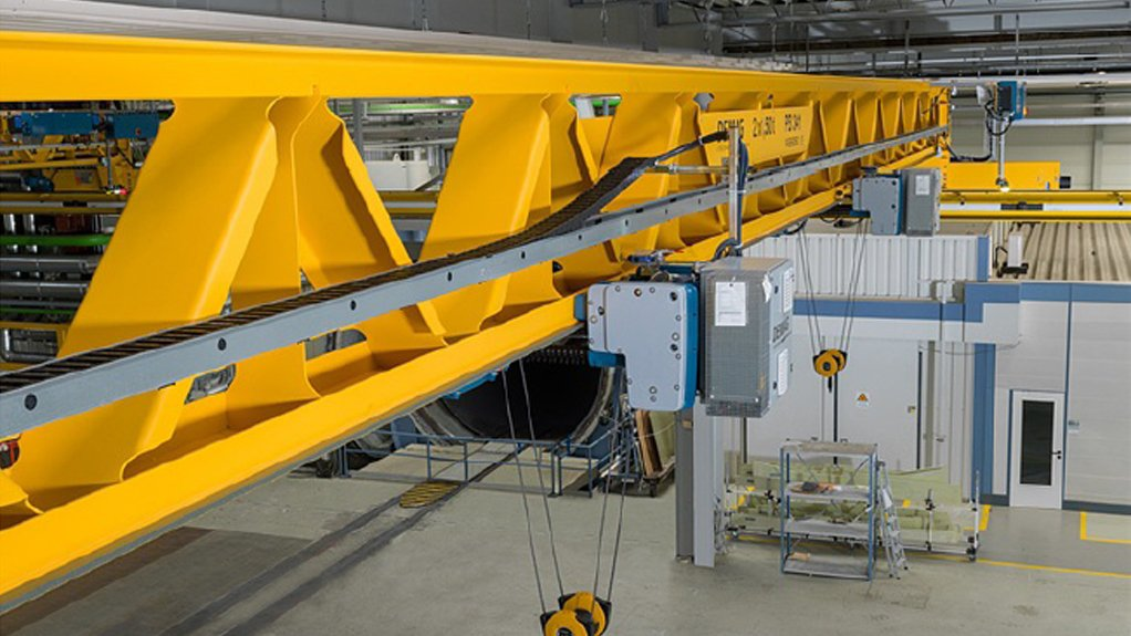 CARBON REDUCTION The V-Type girder manufactured using ecofriendly processes to reduce Demag's carbon footprint