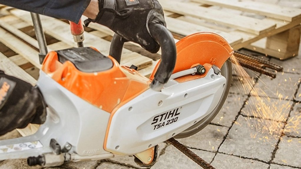 A FIRST  The STIHL TSA 230 is the world's first cordless cut-off machine with a 230 mm cutting wheel