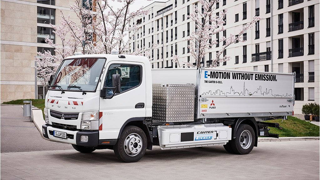 The Fuso Canter E-Cell truck