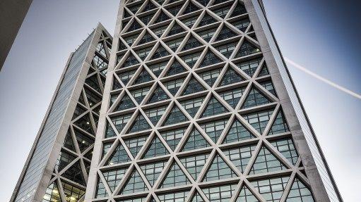 CONCRETE DESIGN 2015 Fulton Award winner, the Fairscape Precinct Office Tower in Botswana