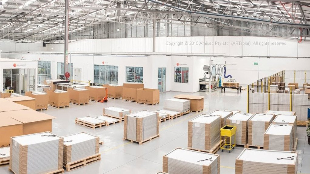 LARGER MANUFACTURING PLANT  ARTsolar has upgraded its manufacturing plant in KwaZulu-Natal