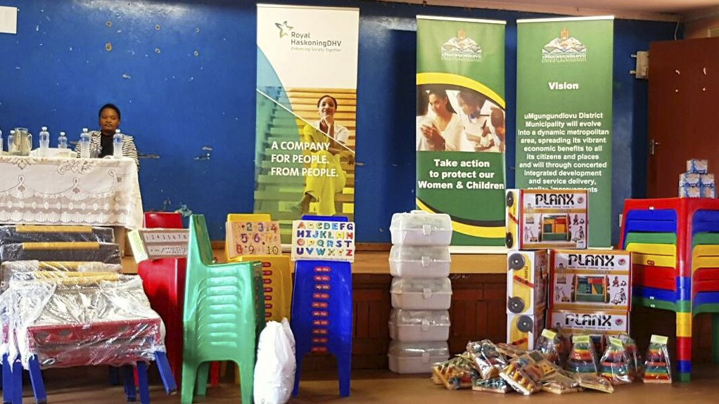 CRECHE EQUIPMENT  Royal HaskoningDHV has supplied crèches in rural areas with equipment and furniture to help teach young children