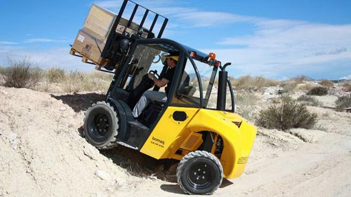 Rough terrain forklift enters the Southern African market