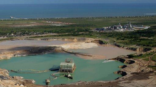 Titanium minerals  production increasing at Moma