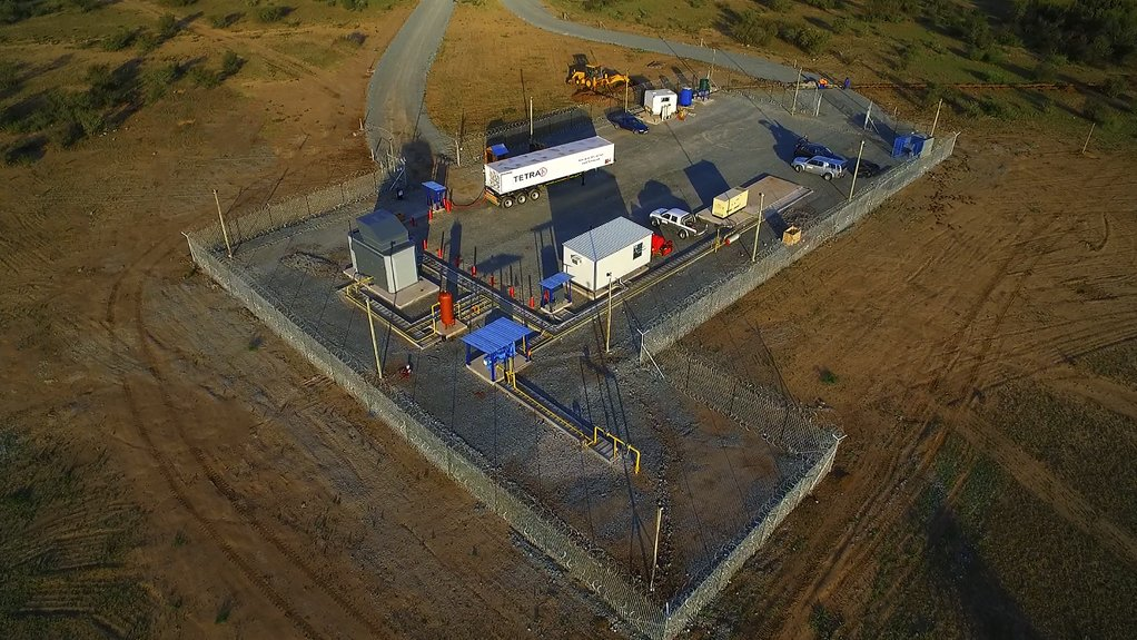 DAILY PROCESS Tetra4's compression station near Virginia in the Free State will process about 210 000 standard cubic feet, or about 210 GJ of natural gas a day