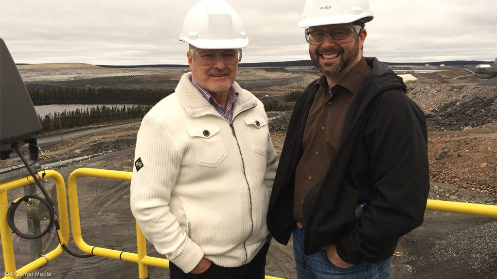 Champion Iron chairperson and CEO Michael O'Keeffe (L) and VP for engineering David Cataford (R) at Bloom Lake, Quebec