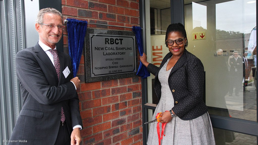 SGS COO Africa Fred Herren and outgoing RBCT CEO Nosipho Siwisa-Damasane