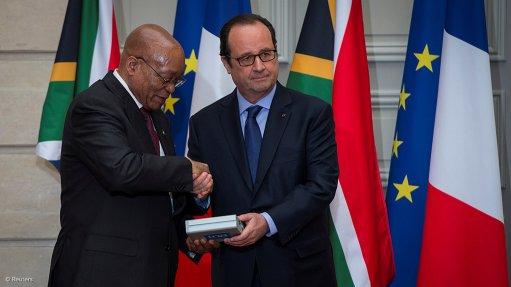 South Africa President Jacob Zuma and France President Francois Hollande