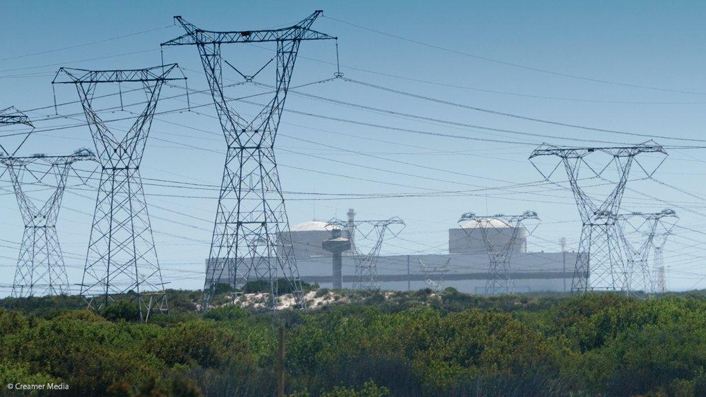 KOEBERG POWER STATION  Areva built some of the components for the Koeberg nuclear power station