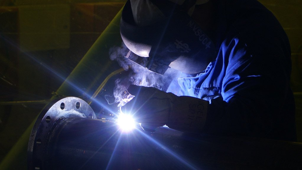HIGH-QUALITY WELDING  The welding process at the Areva heavy equipment manufacturing facility is tightly monitored