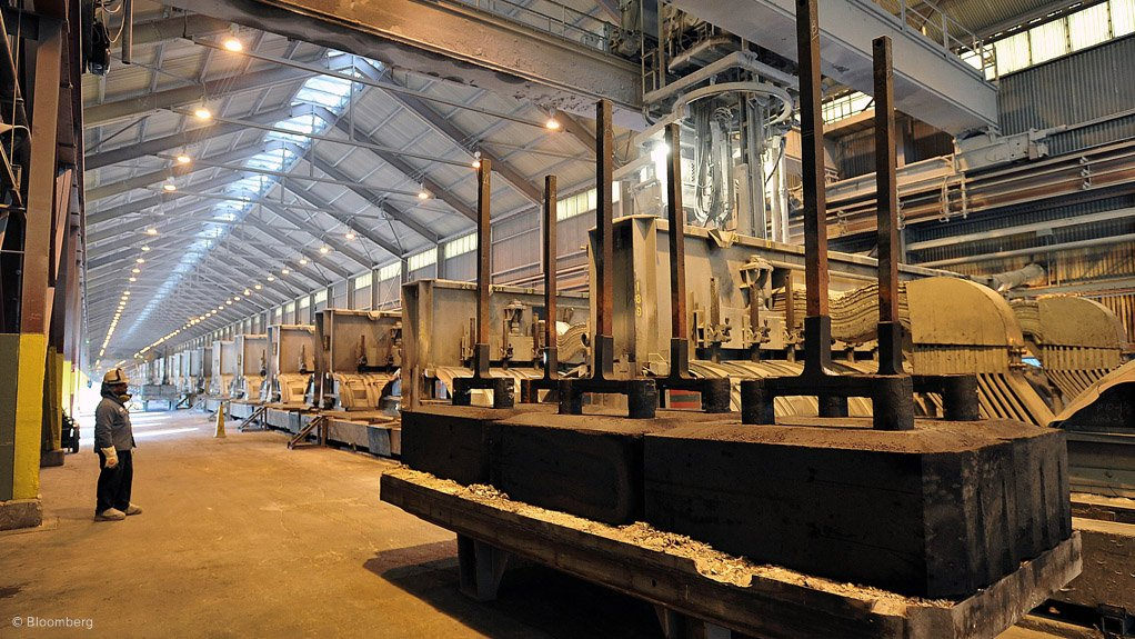 ALUMINIUM SMELTING PLANT Scrap and aluminium metals are being processed further into semi-finished products