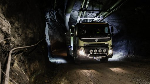 Volvo places self-driving truck in operation at underground mine