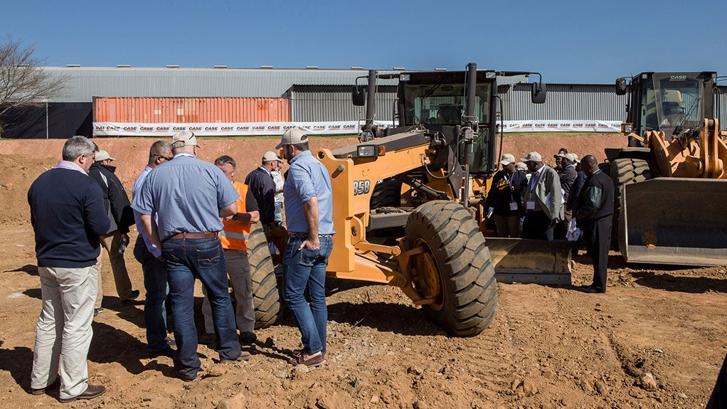 CASE EQUIPMENT Attendees were able to view crawler excavators, graders, wheel loaders, backhoe loaders and skid steers in action