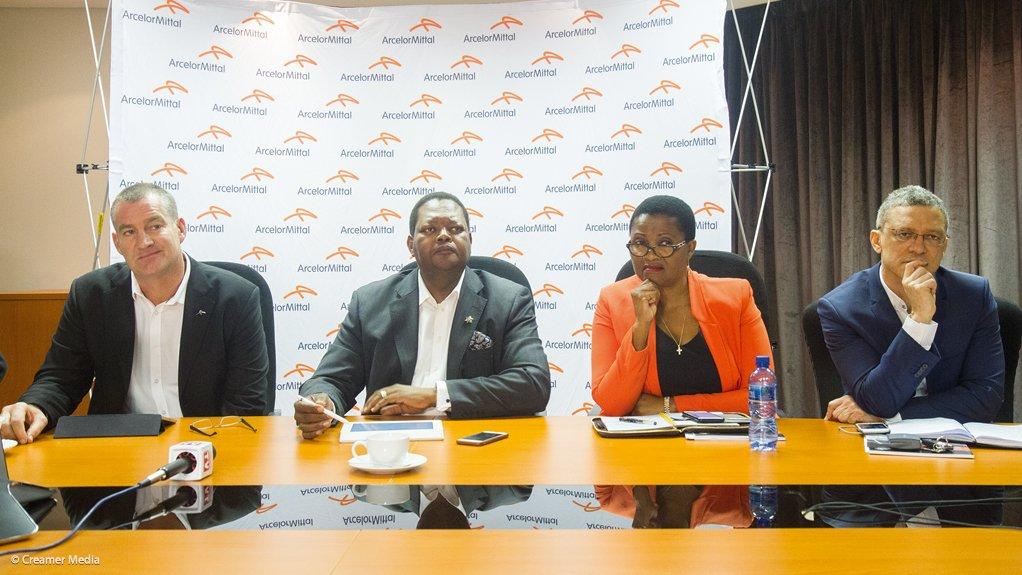 AMSA's Wim de Klerk and Mpho Makwana with Likamva's Noluthando Gosa and Leslie Maasdorp