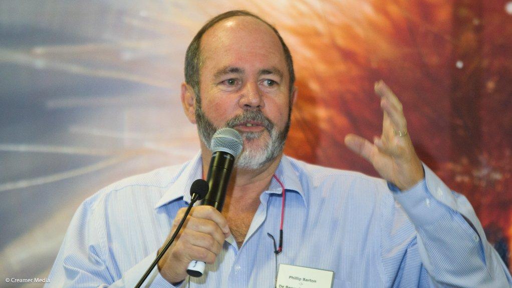 De Beers Consolidated Mines CEO Phillip Barton