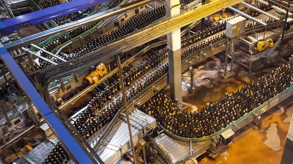 BANKING BOTTLES The drive system has been implemented at breweries around the country to lower costs and improve the efficiency of bottling conveyor systems