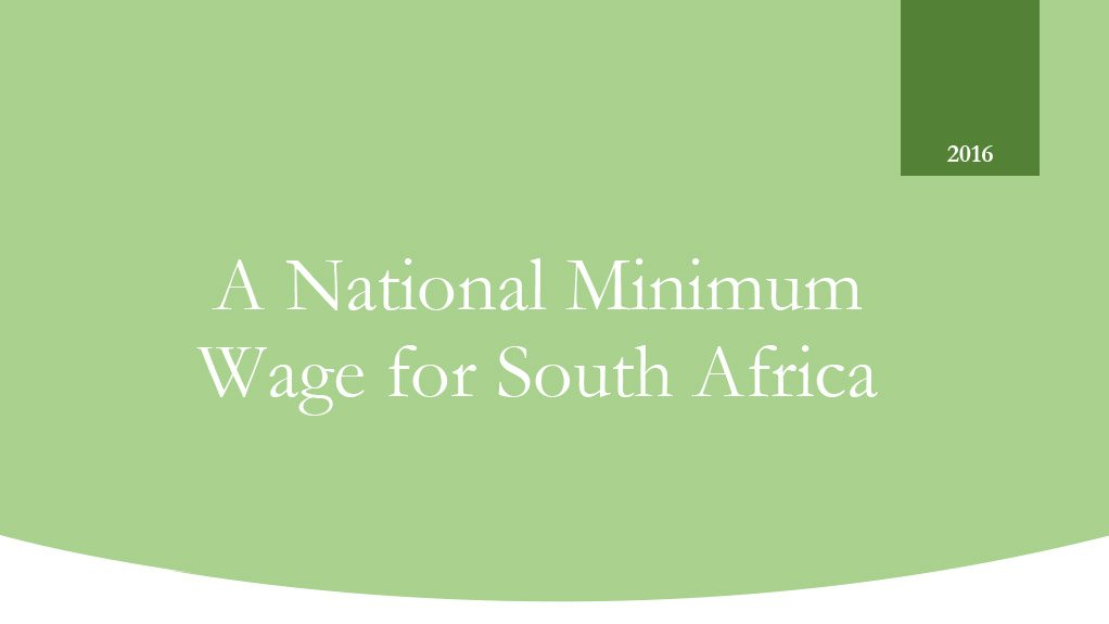 A National Minimum Wage for South Africa