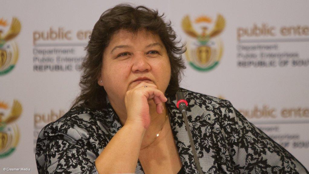 Public Enterprises Minister Lynne Brown