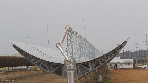 CONCENTRATED SOLAR POWER Concentrated solar radiation is used to heat fluids that drive a turbine