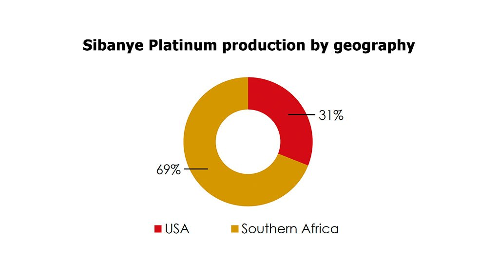 The areas and volumes where Sibanye will mine platinum