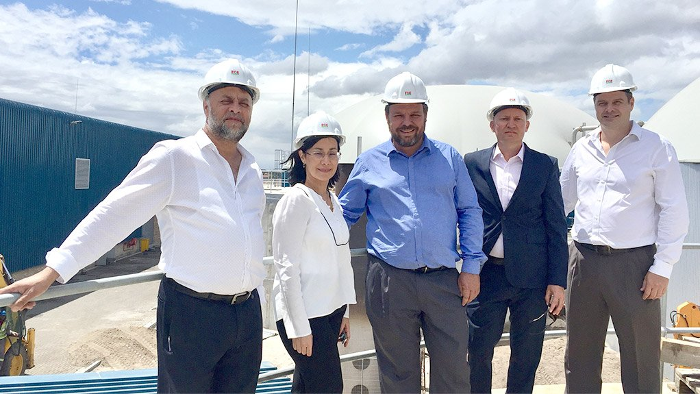Waste Mart managing member Nazier Martinus, Afrox head of commercial and projects Silvia Schollenberger, New Horizons Energy CEO Egmont Ottermann, Clean Energy Africa founder and CEO Marcel Steinberg and Afrox strategic marketing manager Heinrich Uytenbogaardt.