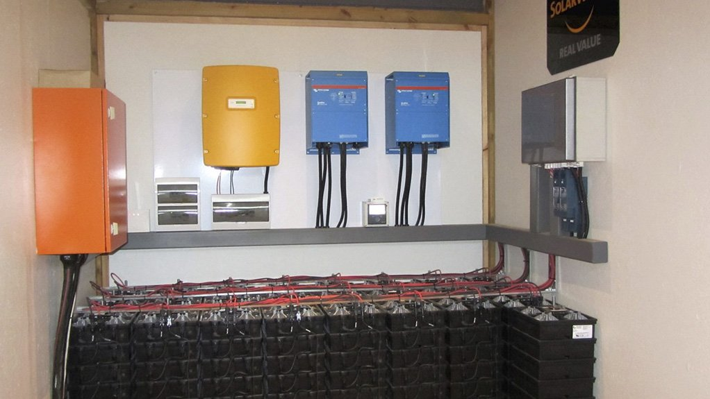 WORTH ITS SALT The saltwater batteries have been sized to comfortably support the lodge's loads during overcast conditions