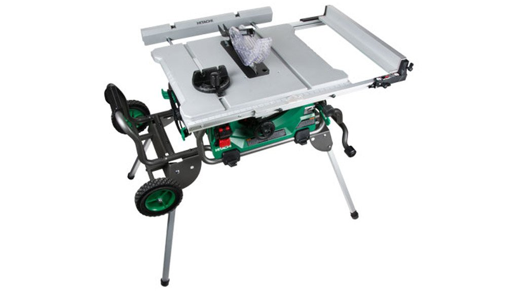 FOLD & ROLL STAND MODEL C10RJ TABLE SAW  Designed with sturdy legs that fold for easy setup and breakdown