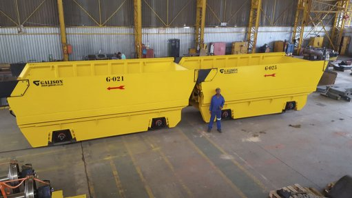SA firm delivers underground rolling stock to Chinese mine