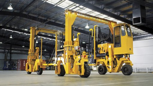 Container handling equipment well suited  to African market