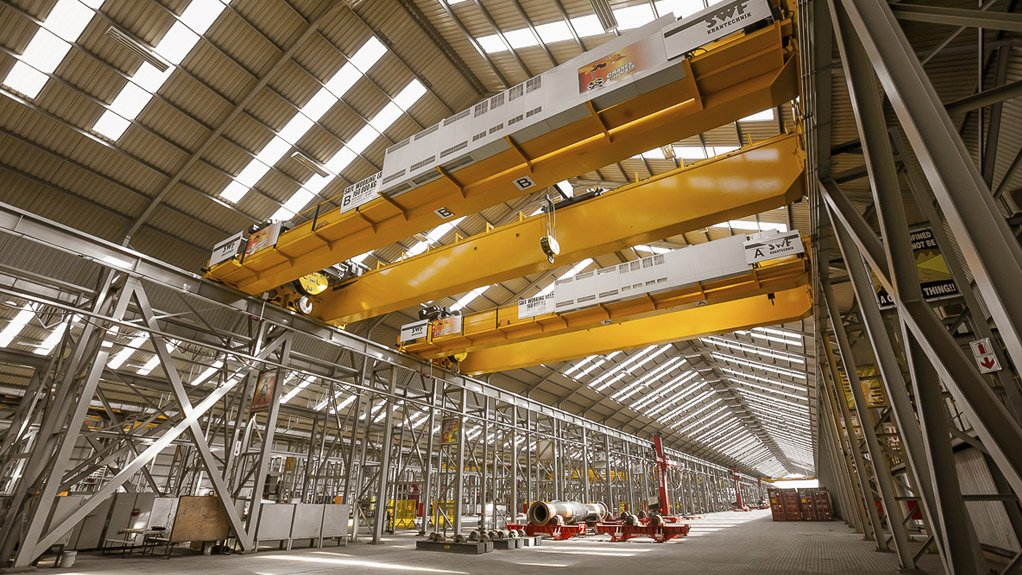 FABRICATION CAPACITY The bays are each 520 m in length, with total fabrication space of more than 75 000 m²