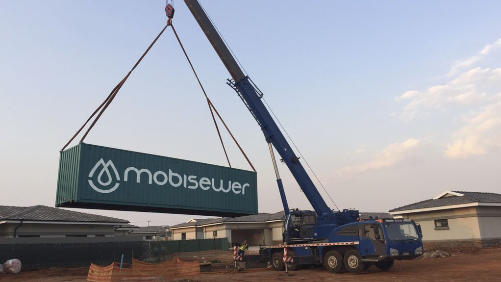 FIRST INSTALLATION The MobiSewer incoporates all sewage treatment processes in one container
