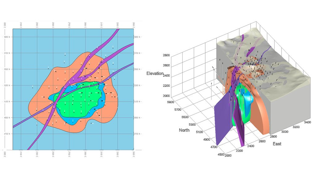 BETTER VISUALISATION GeoLogic helps geologists build complex shapes, using mathematical algorithms to create a surface or a solid from drillhole data