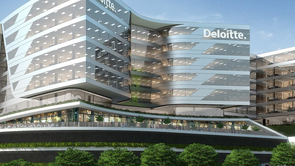 ULTRA MODERN The premises has capacity for about 5 000 people and will consolidate Deloitte's current Woodmead and Pretoria offices in a single central location