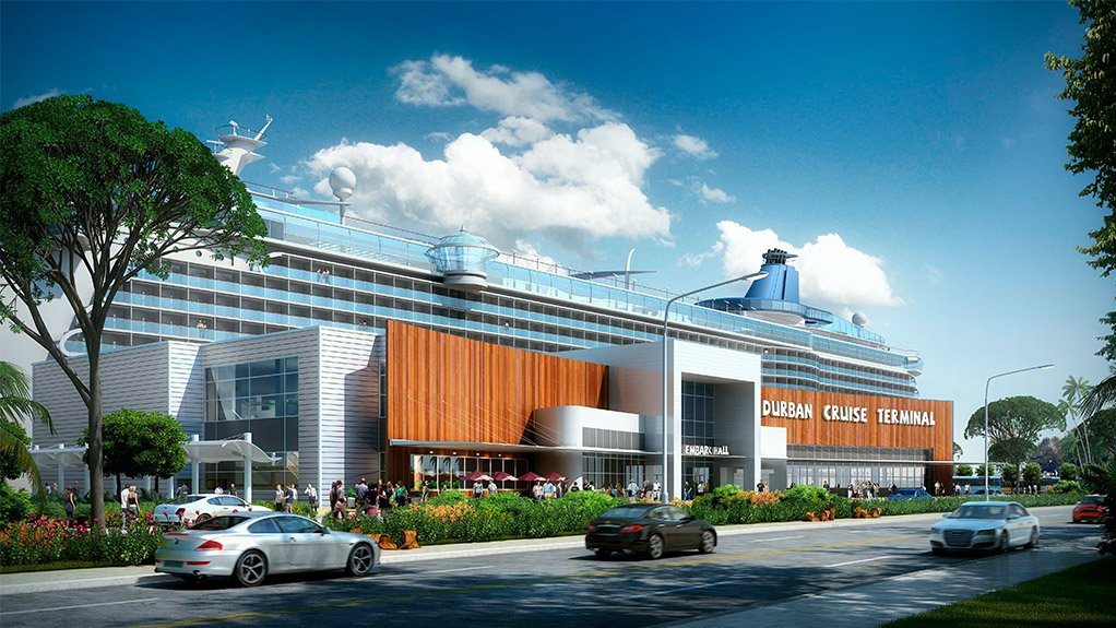 An artist's impression of the Durban cruise terminal