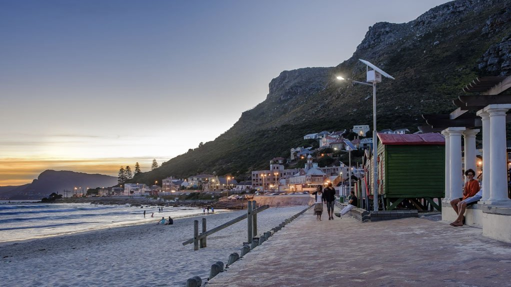 SOLAR LIGHTING A solar lighting project, completed in 2016, was designed to light the Muizenberg beach in Cape Town sustainably