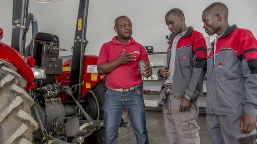 FUTURE FARM One of Agco's Future Farm's responsibilities is to teach aspiring tractor technicians how to service Agco-distributed tractors