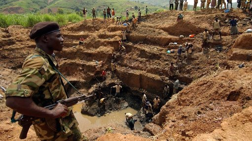 A Central African Republic conflict diamond operation