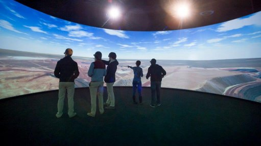 Virtual reality experience aids mine design analysis