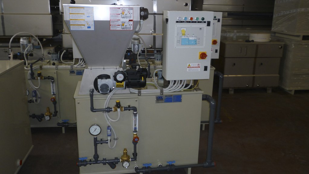 POLISOL POLYMER PLANT There's a gap in the market for small-scale dosing equipment that can be custom-made for a client's applications