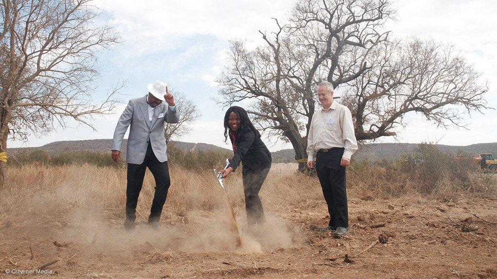 Dr Lelau Mohuba, Rebone Nkambule and Johan Brits