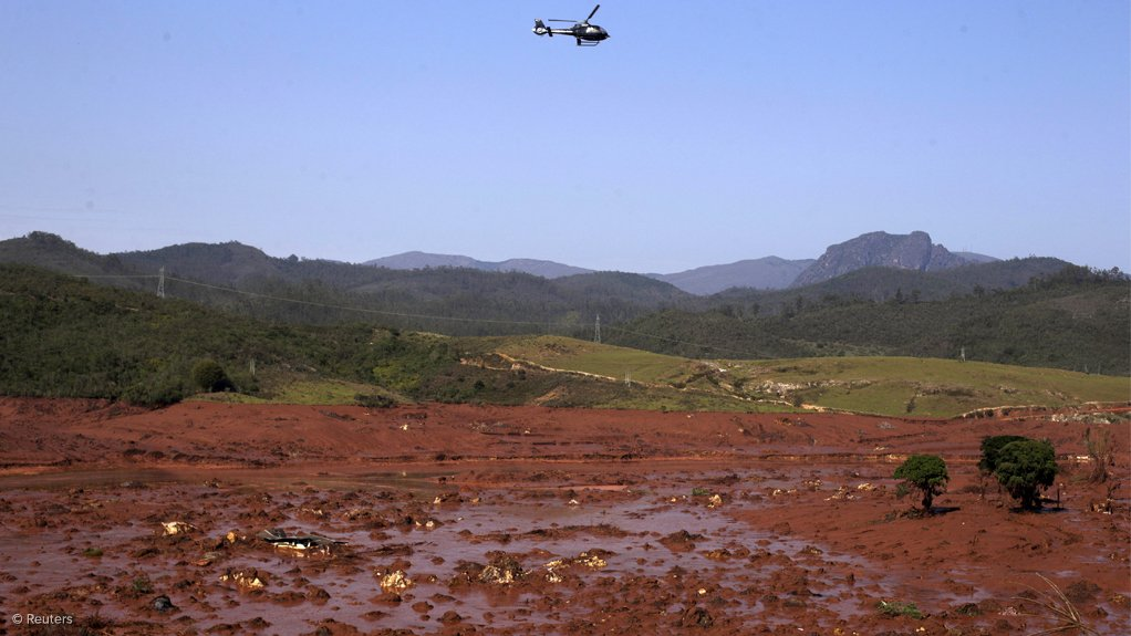 Devastation left in the wake of a tailings-dam burst owned by Vale and BHP Billiton in Mariana, Brazil
